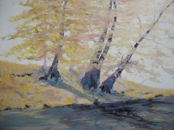 Oil Print featuring the painting Undercut Bank by Dwayne Gresham