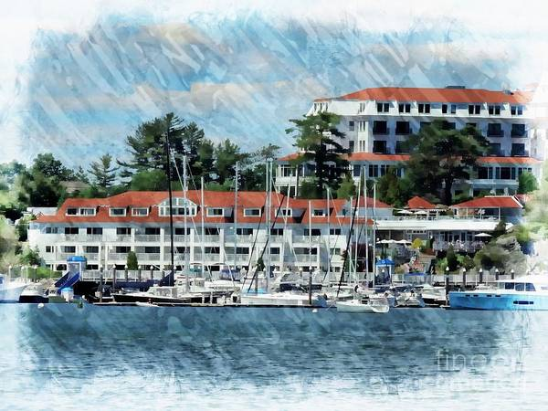 Landmark Print featuring the photograph Wentworth By The Sea by Marcia Lee Jones