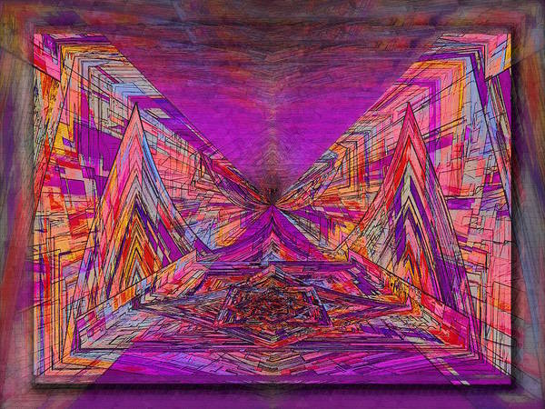 Abstract Print featuring the digital art Rumblings Within by Tim Allen