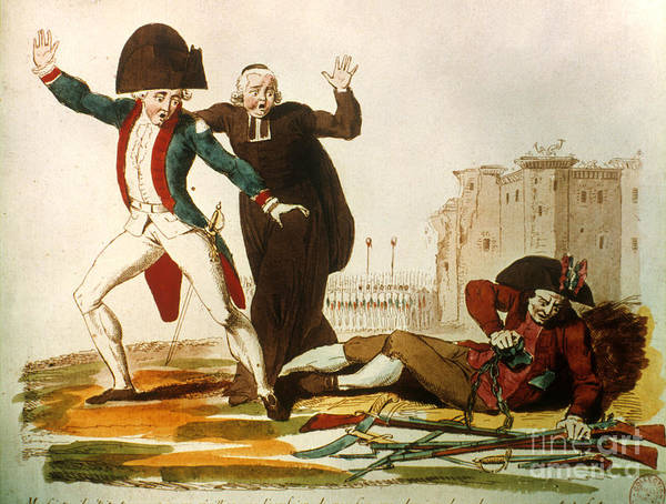 1792 Print featuring the photograph French Revolution, 1792 by Granger