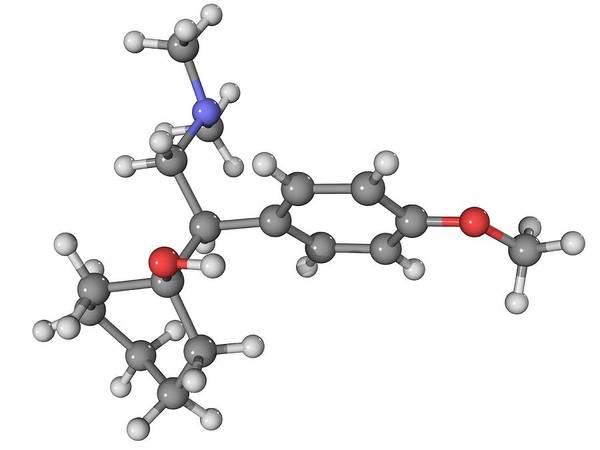 Molecular Print featuring the photograph Effexor Antidepressant Drug Molecule by Laguna Design