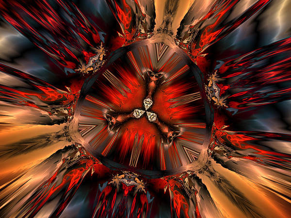 Digital Print featuring the digital art Excitement In Red by Claude McCoy