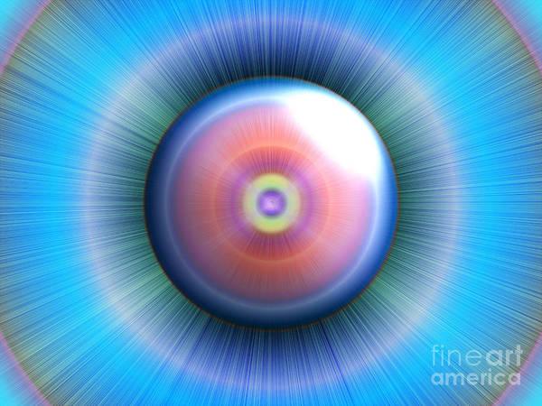 Eye Print featuring the digital art Eye by Nicholas Burningham