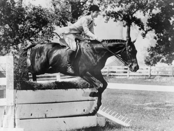 History Print featuring the photograph First Lady Jacqueline Kennedy, Riding by Everett