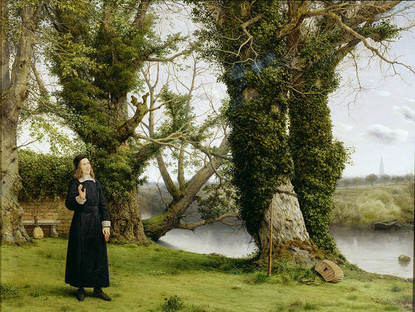 Landscape Print featuring the painting George Herbert At Bemerton by William Dyce