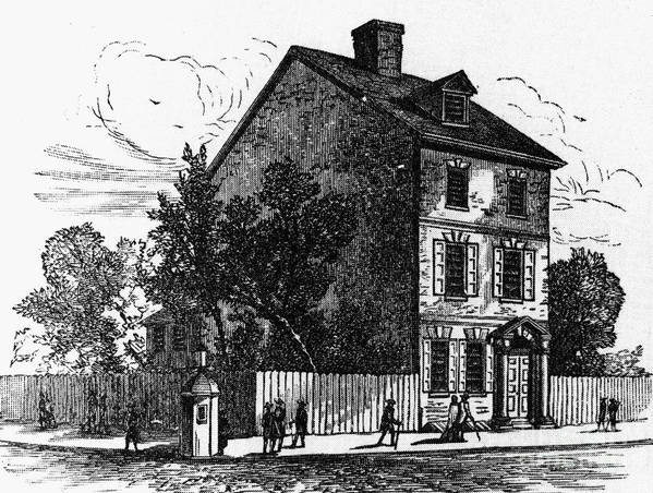 1776 Print featuring the photograph Jeffersons House, 1776 by Granger