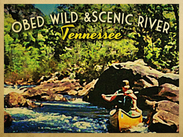 Obed Print featuring the digital art Obed Wild Scenic River Tennessee by Flo Karp