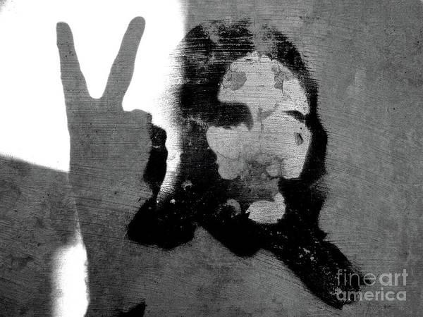 Hippie Print featuring the photograph Peace Man Peace by Joe Jake Pratt