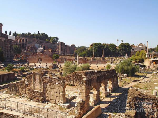Worth Print featuring the photograph Ruins. Roman Forum. Rome by Bernard Jaubert