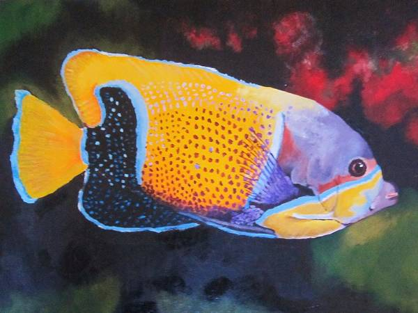 Fish Print featuring the painting Sutton Fish by Terry Gill