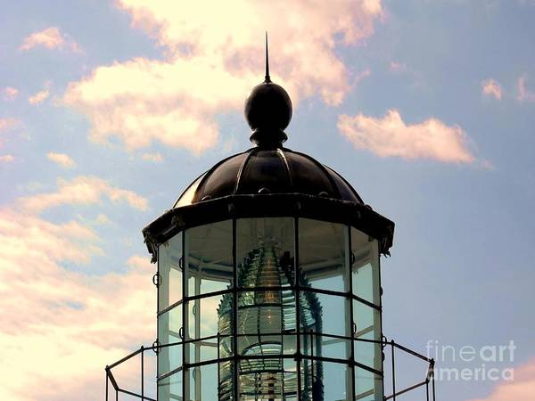 Bonita Print featuring the photograph Top Of Bonita Lighthouse by Kathleen Struckle