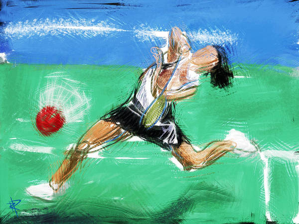 Badminton Print featuring the mixed media What A Racket by Russell Pierce
