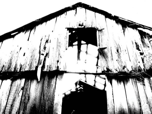 Barn Print featuring the photograph Barn by Amanda Barcon