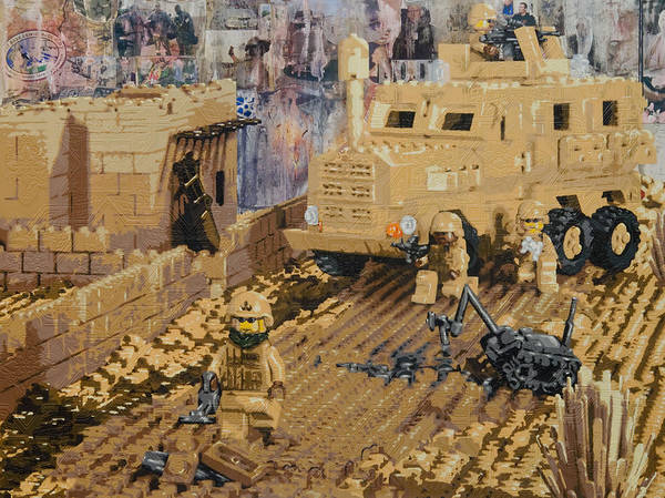 Lego Print featuring the painting Clearing The Road- Kandahar Province Afghanistan by Josh Bernstein