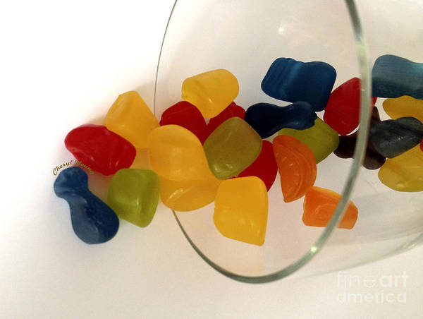 Gummi Candy Print featuring the photograph Fruit Gummi Candy by Cheryl Young