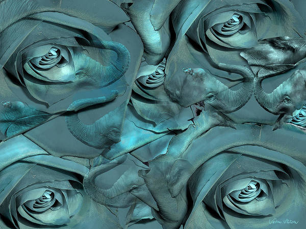 Roses Print featuring the digital art Layers by Sabine Stetson