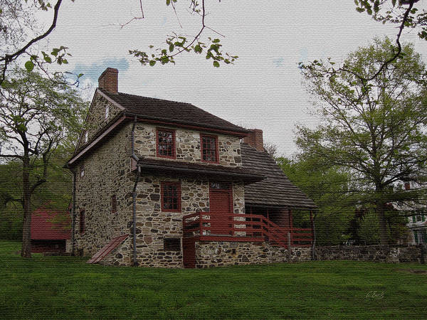 Historic Print featuring the photograph Layfayette's Headquarters At Brandywine by Gordon Beck