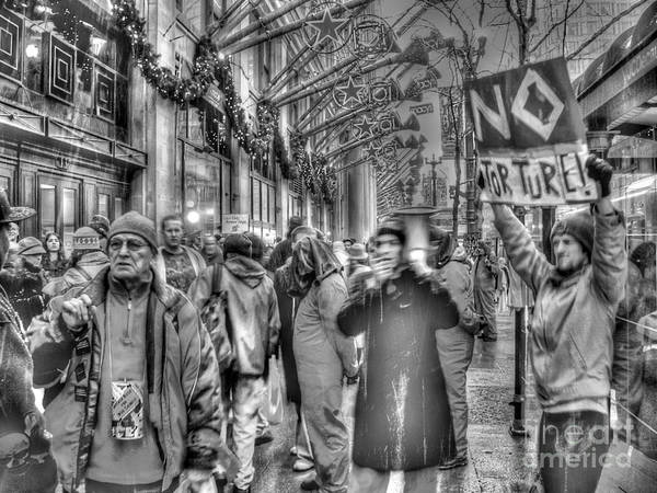 Chicago Illinois Print featuring the photograph No Torture by David Bearden