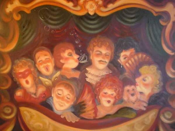 Opera Balcony Scene Print featuring the painting Opera Delight by Scott Jones