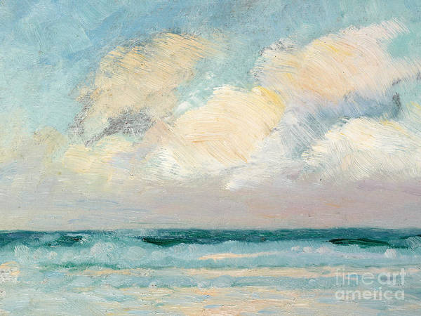 Seascape Print featuring the painting Sea Study - Morning by AS Stokes