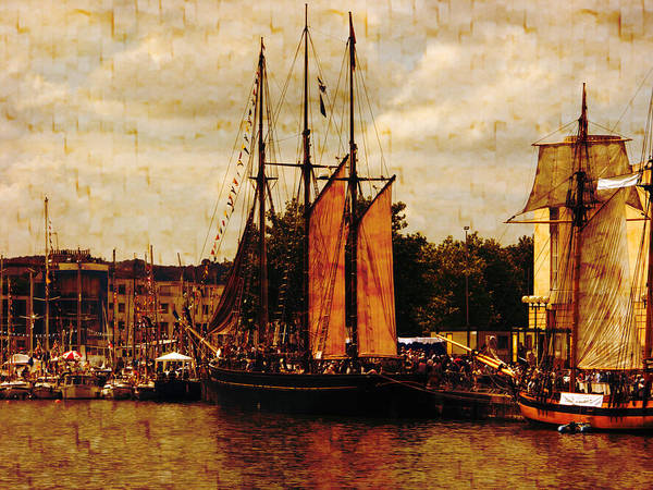 Tall Ships Print featuring the photograph Setting Sail From Bristol by Brian Roscorla