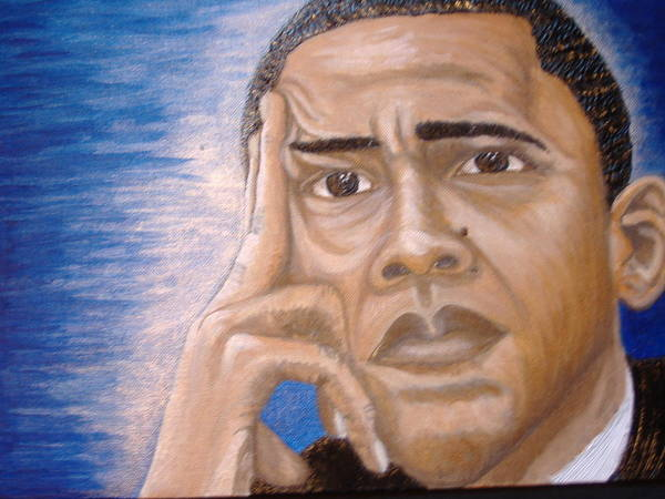 Acrylic Print featuring the painting Thinking Of A Master Plan by Keenya Woods