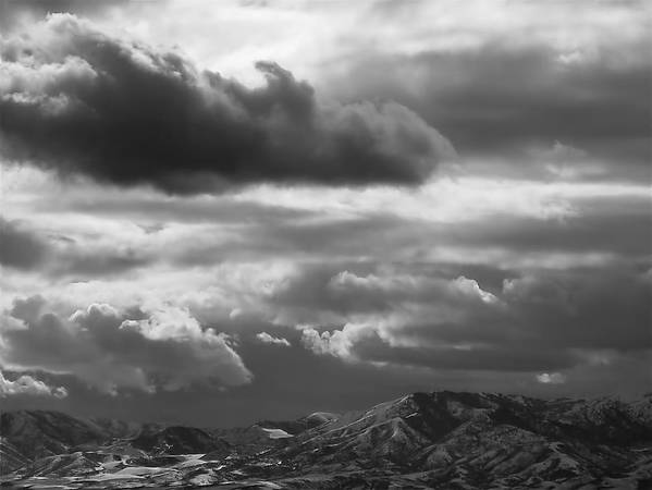 Salt Lake City Print featuring the photograph Winter Sky by Rona Black