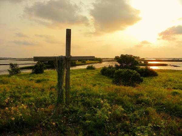 Wooden Cross Print featuring the photograph Wooden Cross 2 by Sheri McLeroy