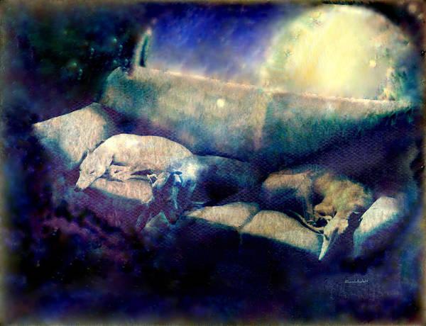 Print featuring the mixed media Nap Time Dreams by YoMamaBird Rhonda