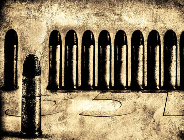 Bullets Print featuring the photograph 357 by Bob Orsillo