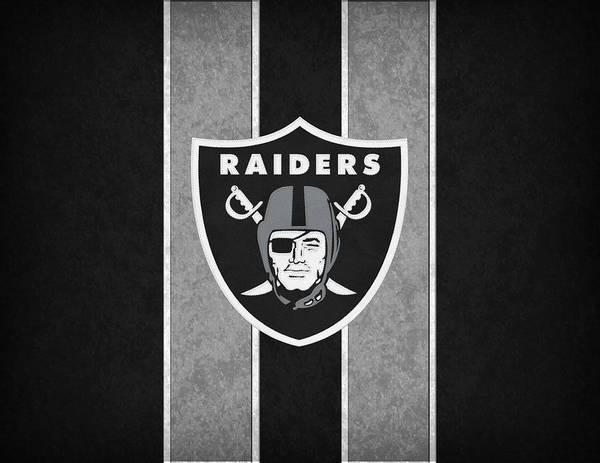 Raiders Print featuring the photograph Oakland Raiders by Joe Hamilton