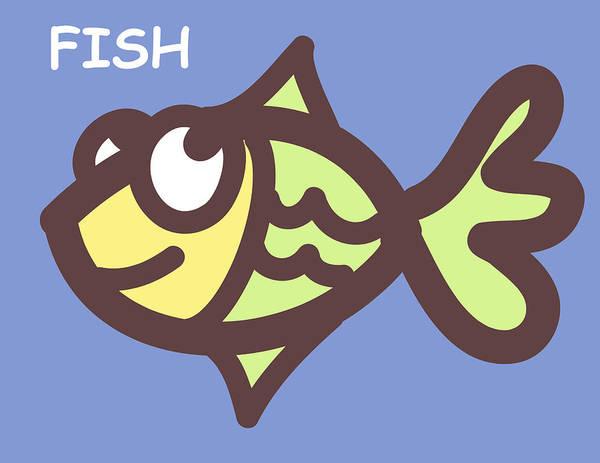 Twin Print featuring the digital art Fish by Nursery Art