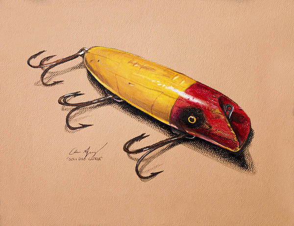 Lures Print featuring the painting Fishing Lure by Aaron Spong