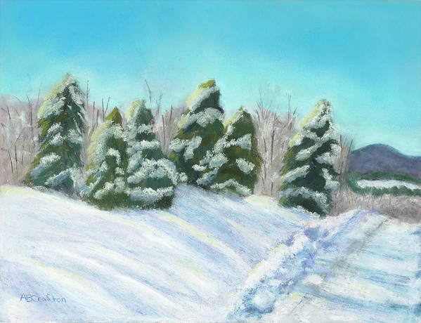 Snow Print featuring the painting Frozen Sunshine by Arlene Crafton