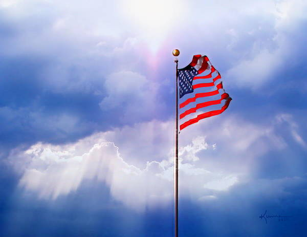 God Bless America Print featuring the photograph God Bless America by Kume Bryant