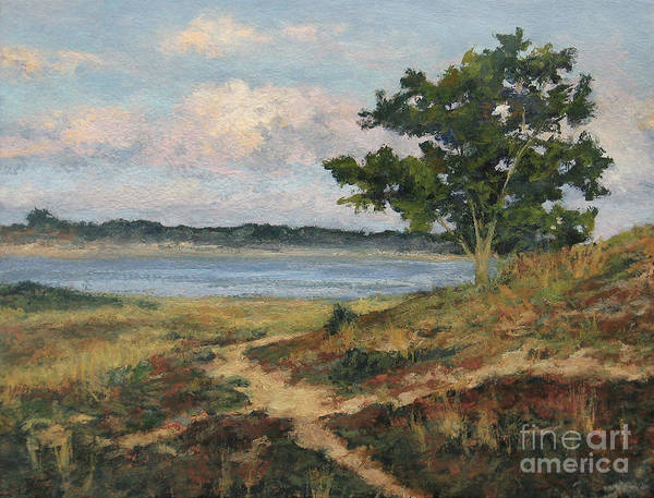 Wellfleet Print featuring the painting Path To The Harbor by Gregory Arnett