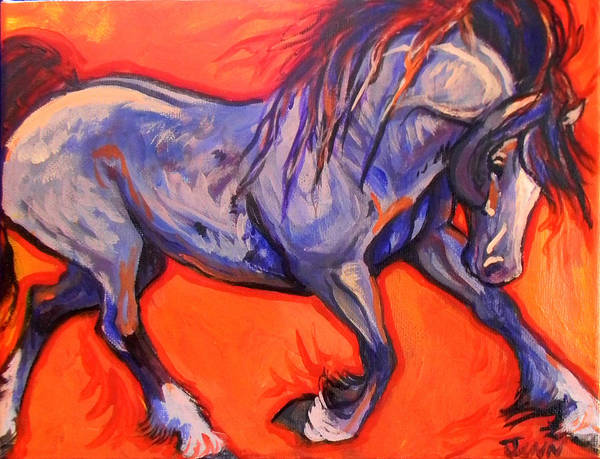 Horse Print featuring the painting Pride by Jenn Cunningham