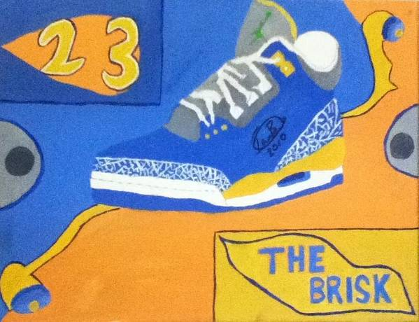 Michael Print featuring the painting The Brisk by Mj Museum