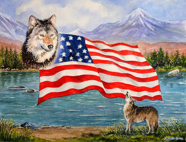 Andrew Read Print featuring the painting The Wildlife Freedom Collection 1 by Andrew Read