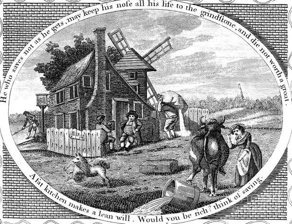 1795 Print featuring the photograph Poor Richard Illustrated by Granger