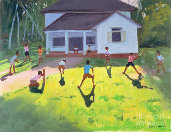 Children Print featuring the painting Cricket by Andrew Macara