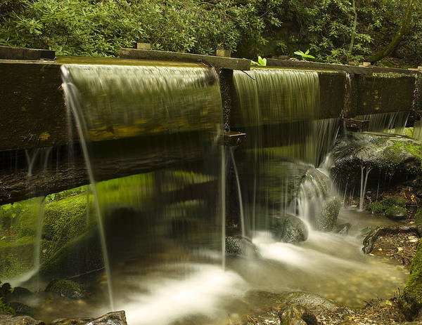 Mill Print featuring the photograph Flowing Water From Mill by Andrew Soundarajan