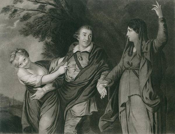 History Print featuring the photograph Garrick Between Tragedy And Comedy by Everett