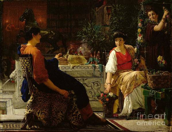 Preparations Print featuring the painting Preparations For The Festivities by Sir Lawrence Alma-Tadema