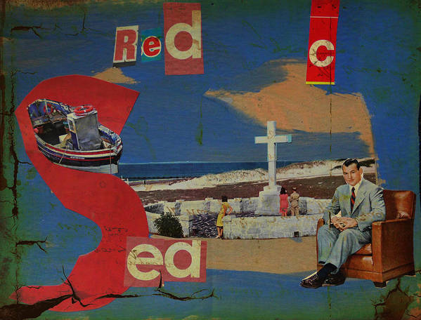 Red Sea Print featuring the mixed media Red Sea by Adam Kissel