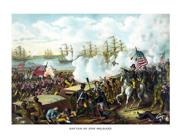 Andrew Jackson Print featuring the painting Battle Of New Orleans by War Is Hell Store