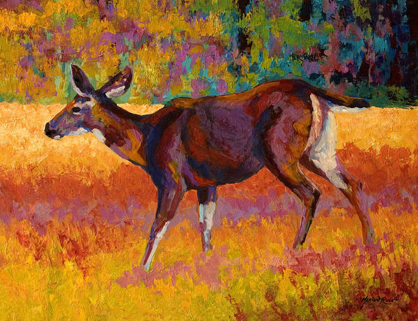 Deer Print featuring the painting Doe IIi by Marion Rose