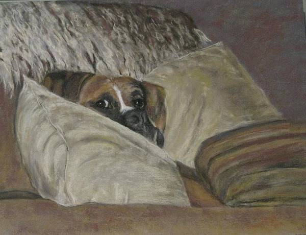Boxers Print featuring the painting Home So Soon by Elizabeth Ellis