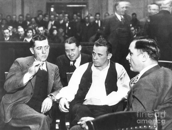 1934 Print featuring the photograph John Dillinger 1903-1934 by Granger