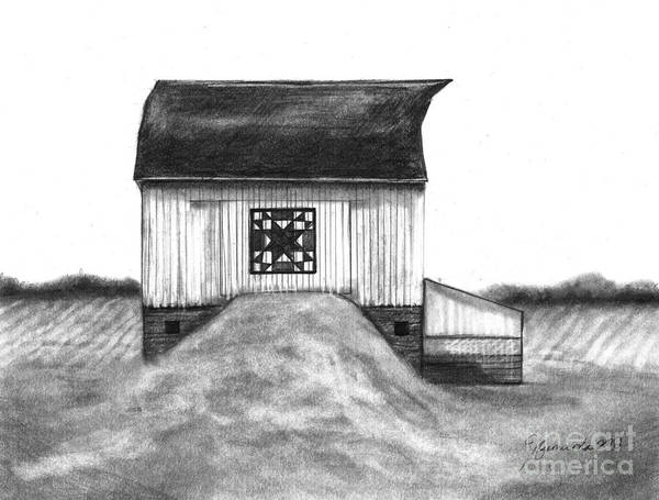 Barn Print featuring the drawing Small Things by J Ferwerda